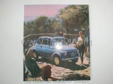Blechschild mit Fiat 500 Motiv