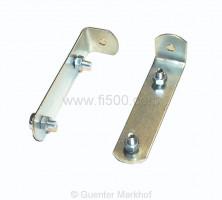 Satz (2 Stück) Kennzeichenhalter aus Metall für vordere Stoßstange