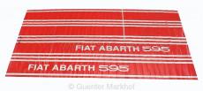 Schriftzug / Klebestreifen seitlich ABARTH 595 rot 6-teilig