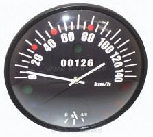 Speedometer wall clock Fiat 126, Ø 33 cm