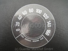 Sticker in speedometer format 0-160 km/h