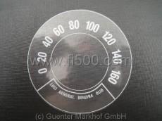 Aufkleber in Tachoscheibenformat 0-160 km/h